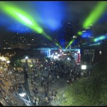 South By South West laser show. Outdoor lasers